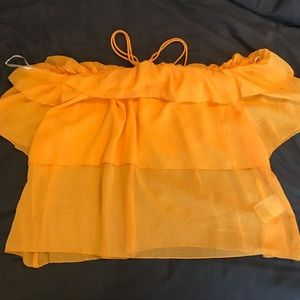 H&M mustard color blouse